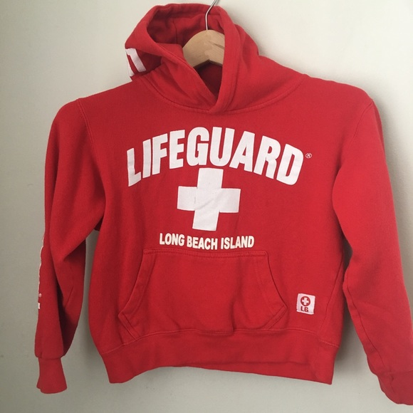 ccb00a6dfefd95 Lifeguard Other - Youth Lifeguard Long Beach Island NJ Hoodie Small